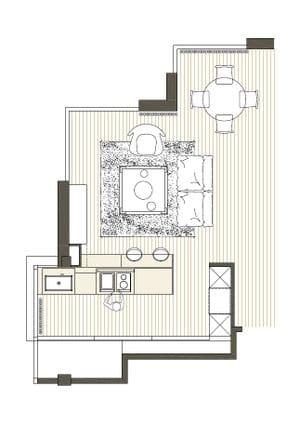 Sieline reforma de cocinas en girona for Planos de cocina lineal