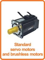 standard servo motors and brushless motors