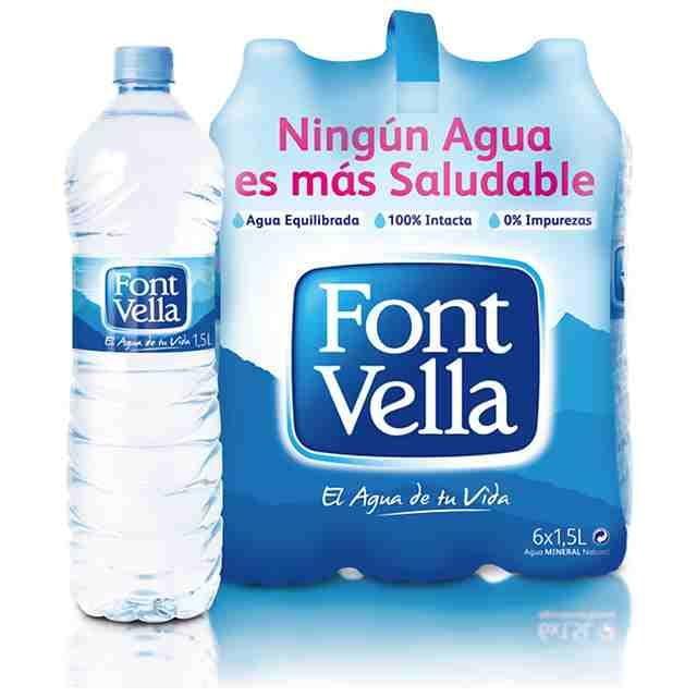 Agua Mineral Natural Font vella 6x1.5l