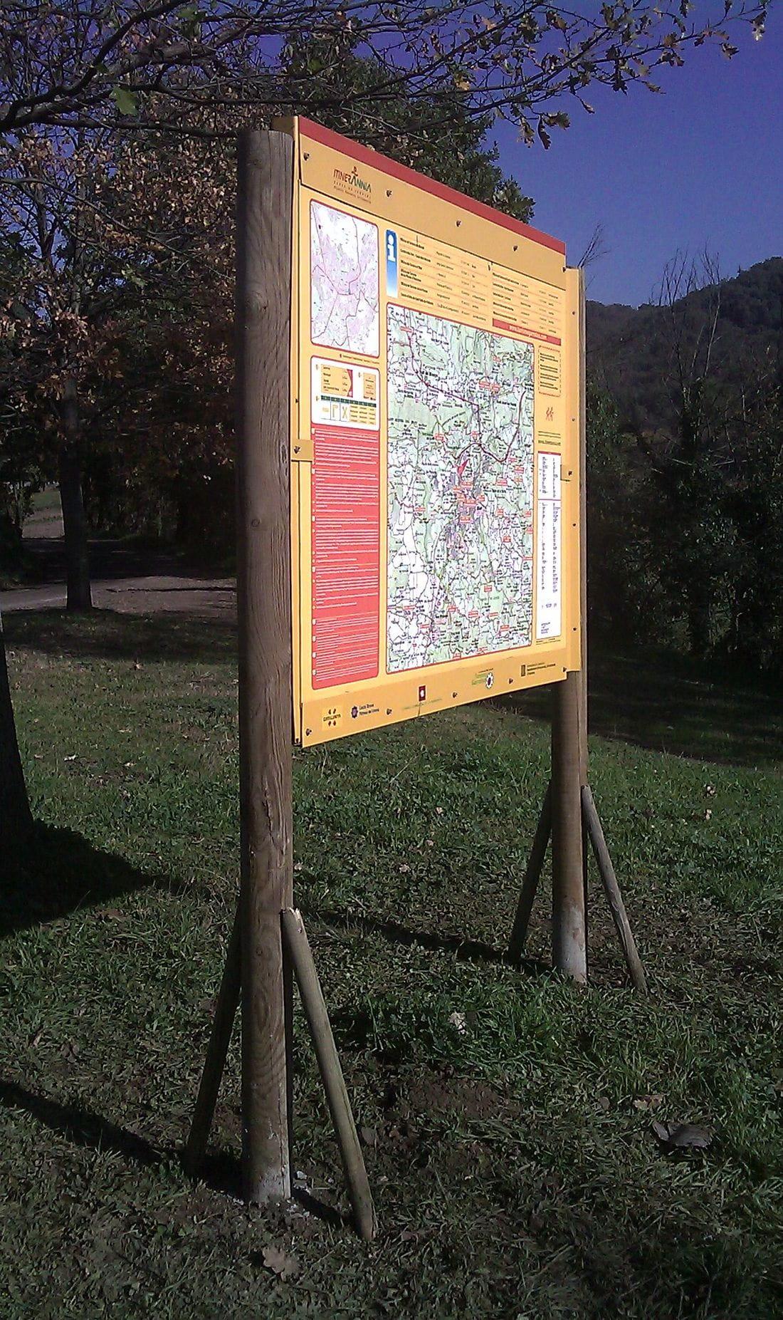 Itinerànnia information billboards in the municipalities