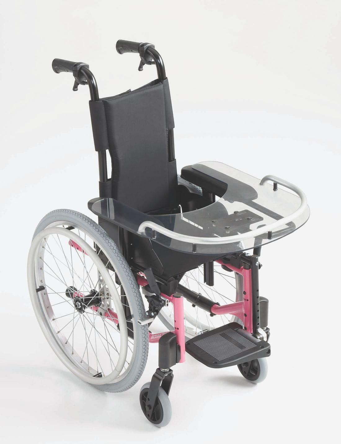 Silla de ruedas de niños ACTION 3 JUNIOR mesita