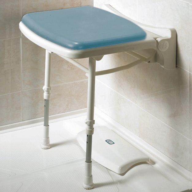 Asiento abatibles de ducha compactos y acolchados
