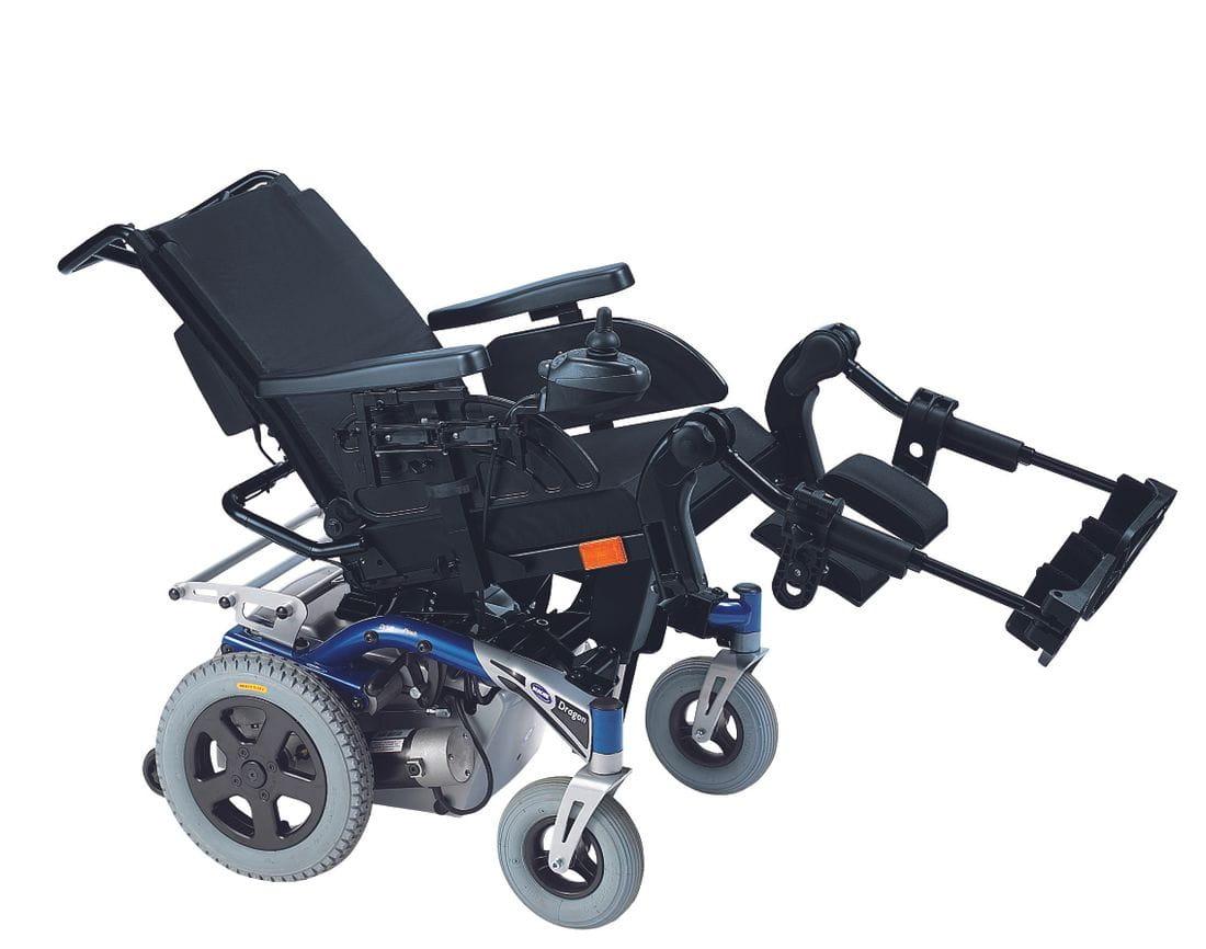 Silla de ruedas electrónica DRAGON Plus con Reposapiés elevables