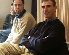 With Andreu Bover during the recording of the work