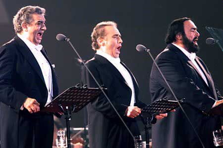 Els tres tenors: Plácido Domingo, Josep Carreras i Luciano Pavarotti