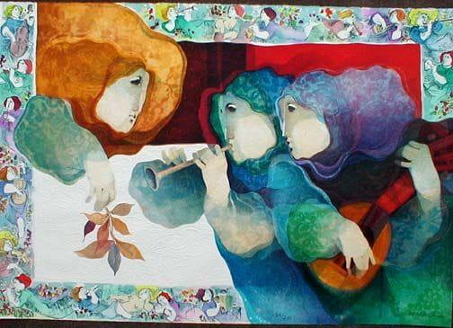 Blau Sinfonia del pintor català Alvar Suñol