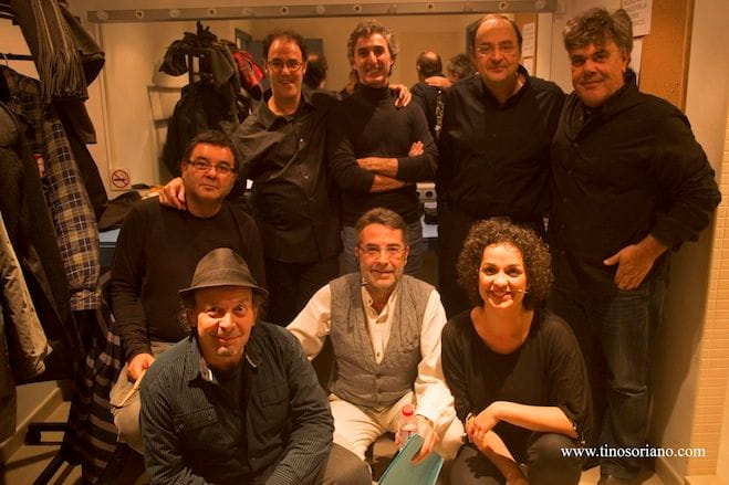 Part dels artistes col·laboradors del concert
