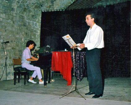 Con Jaume De Caso durante el estreno de la obra