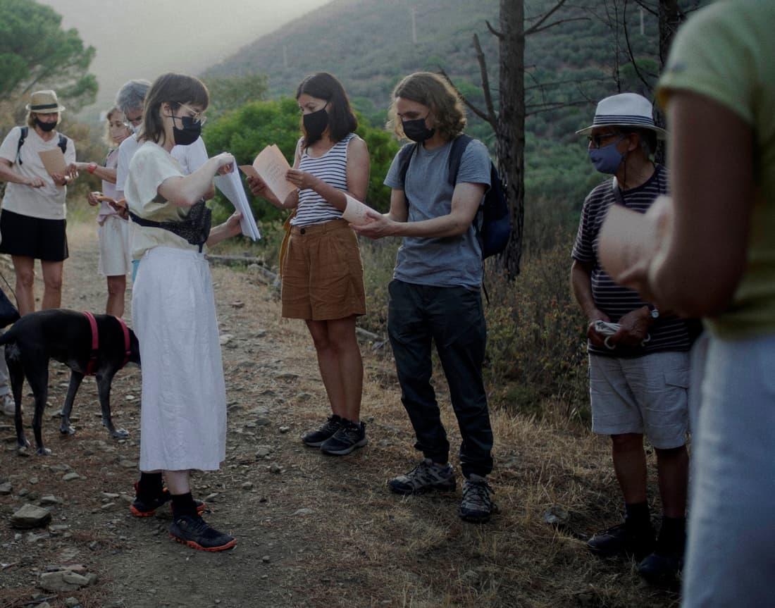 Acción  Ariadna Guiteras  ''Cartas al agua, la leche y el barro I»