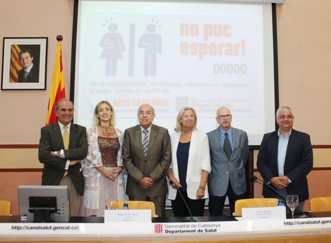 Signatura del conveni entre el Departament de Salut, Gremi de Restauració de Barcelona, Foment del Treball Nacional i ACCU Catalunya.