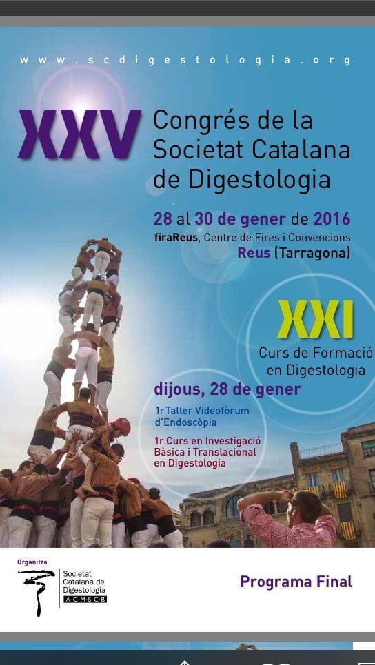 XXV Congreso de la Societat Catalana de Digestologia 2016