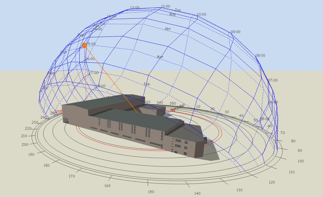 Modelització de la geometria de l'edifici dins l'entorn de simulació 1