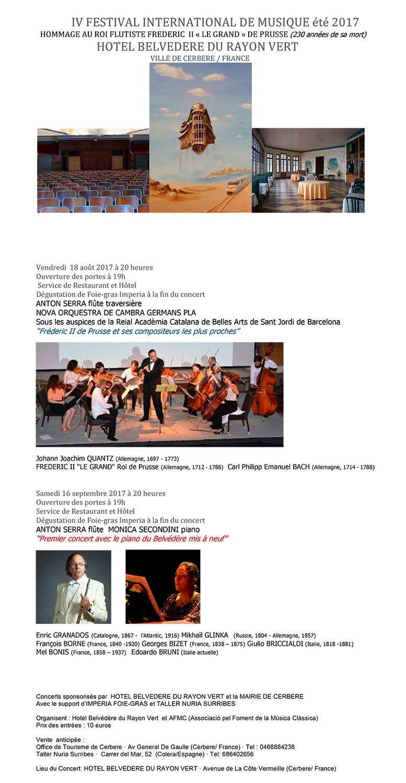 Imperia en la degustación de los conciertos de Anton Serra en el IV FESTIVAL INTERNATIONAL DE MUSIQUE été 2017