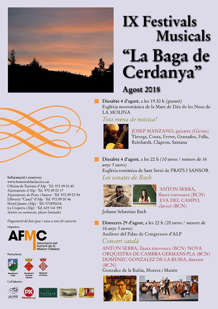 Imperia en la degustació del IX Festivals Musicals La Baga de Cerdanya