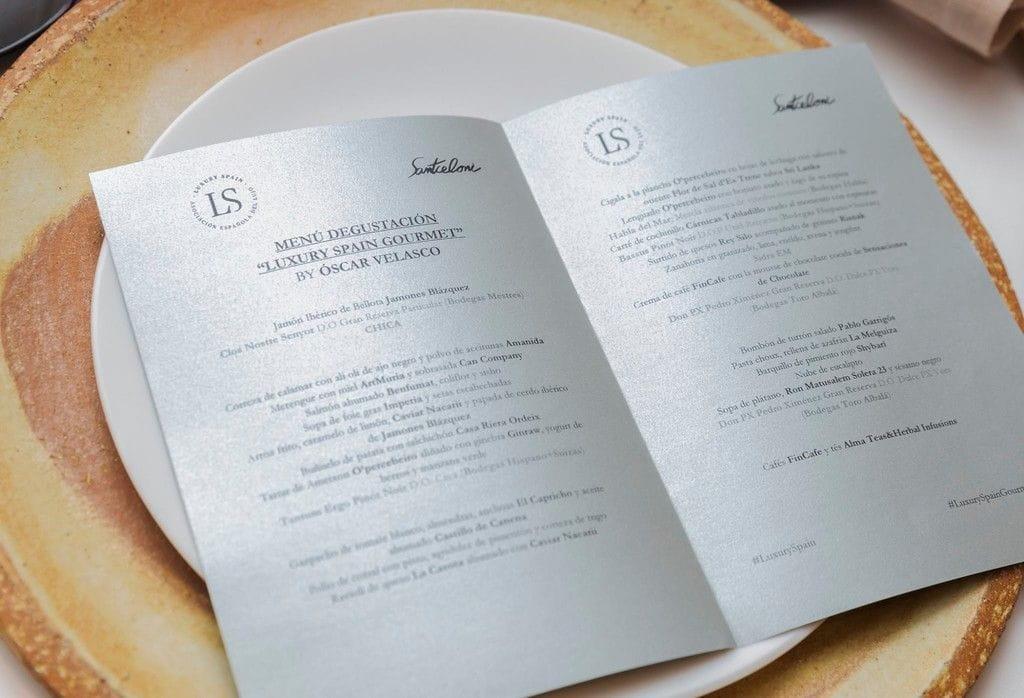 Imperia al menú degustació Luxury Spain Gourmet al restaurant Santceloni