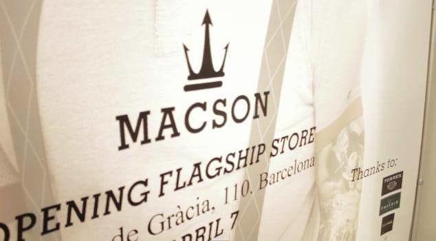 Imperia en la inauguración de Macson en Barcelona