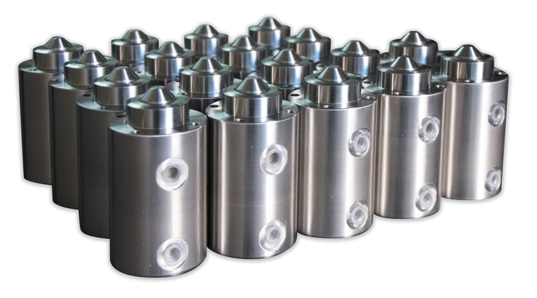 Pneumatic cylinder block stainless steel