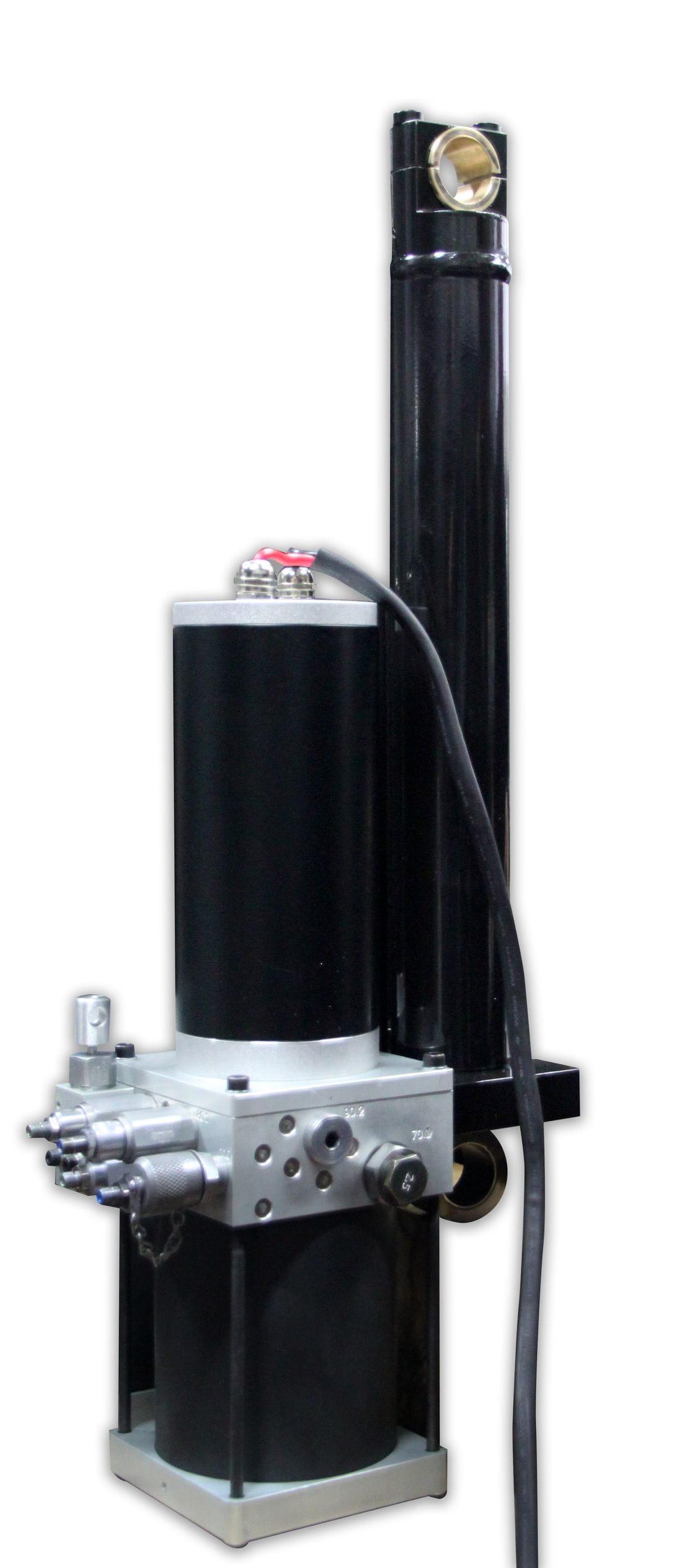 Conjunt compacte cilindre i grup hidràulic.