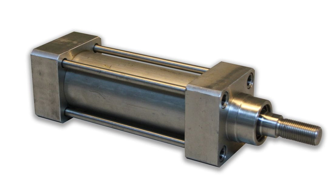 Double-acting pneumatic cylinder ISO stainless steel