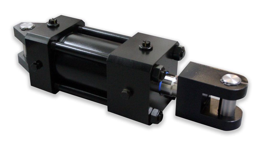 Cilindro hidráulico doble efecto basculante amortiguado