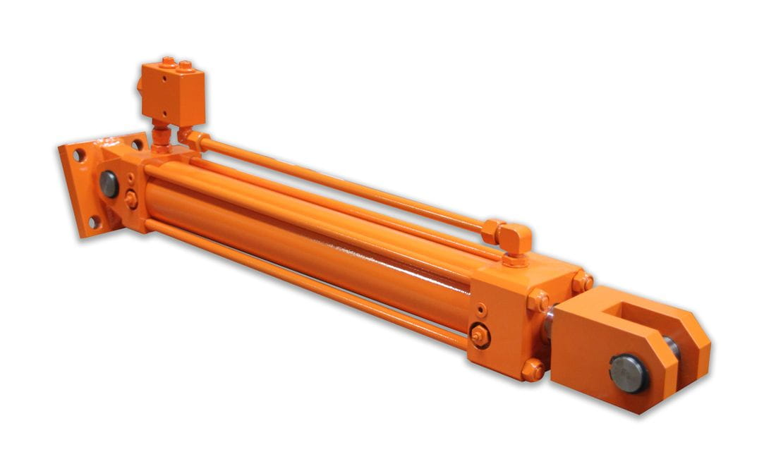 Hydraulic cylinder with safety valve