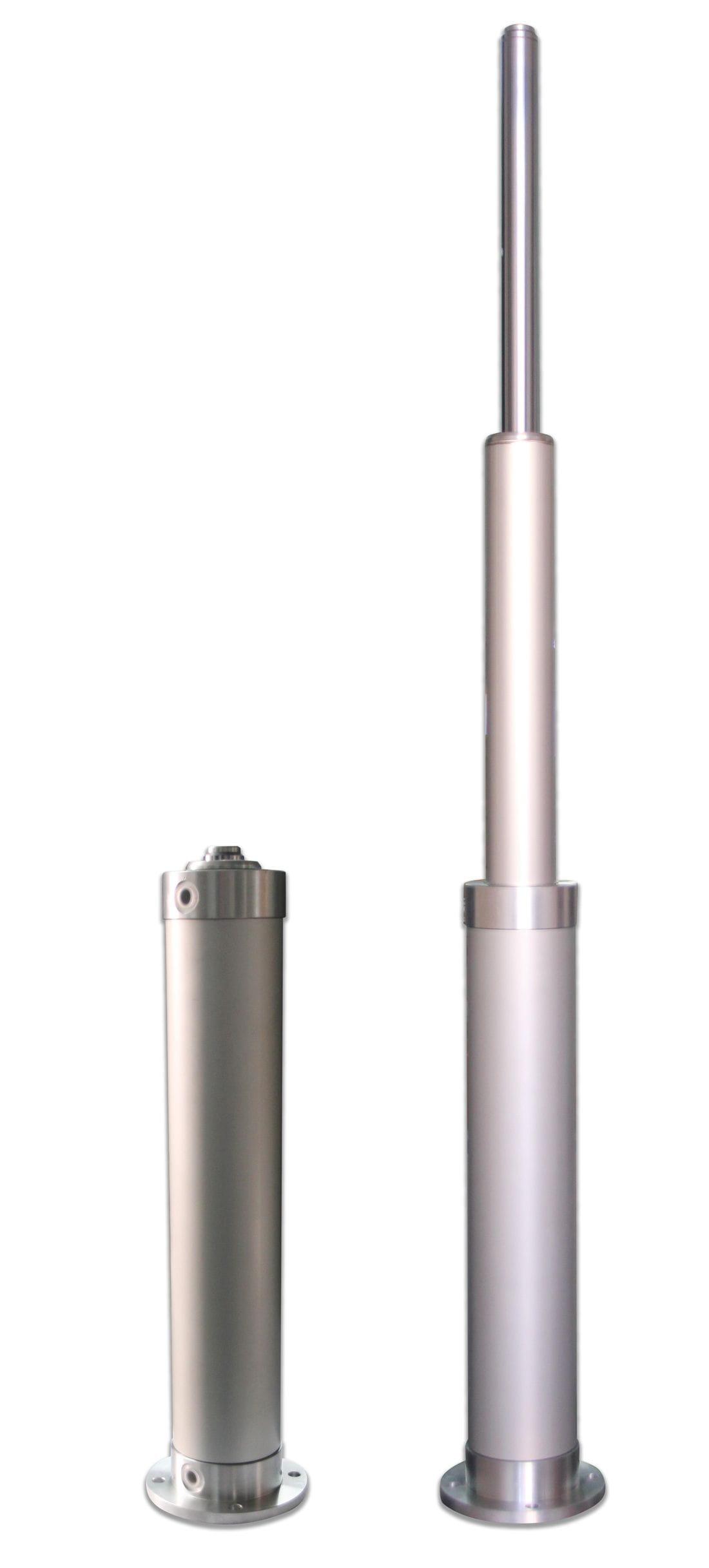 Cilindro neumático telescópico