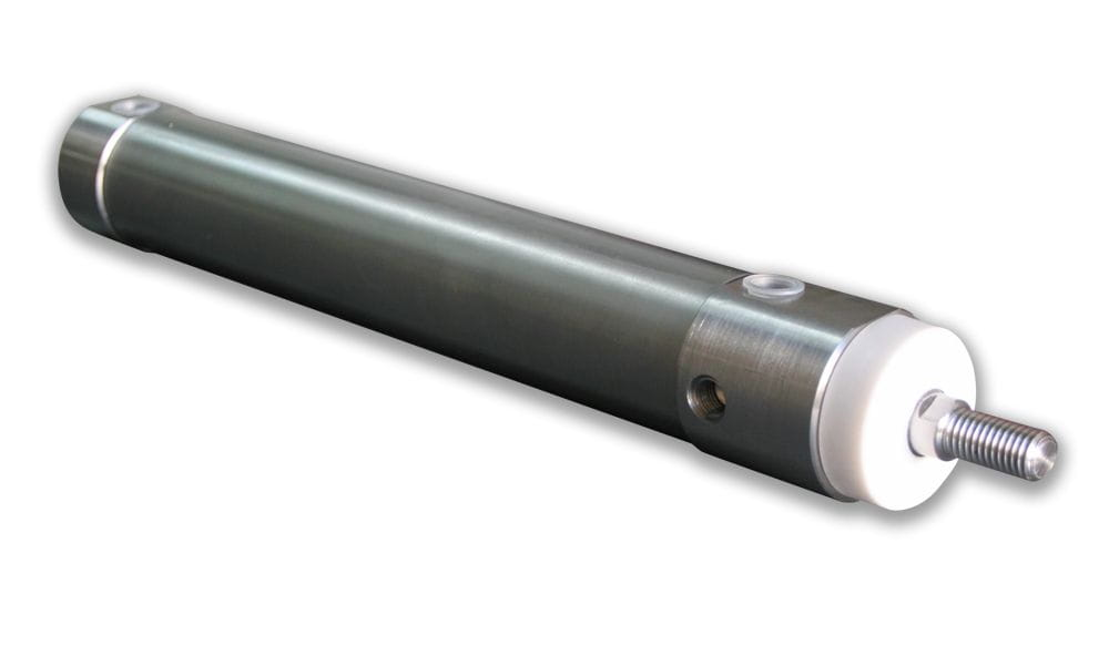 ISO Double Pneumatic Scraper Cylinder, Stainless