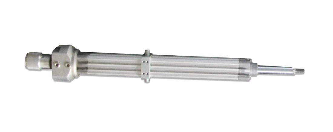 Linear actuator with ball screw rolled, inside the rod