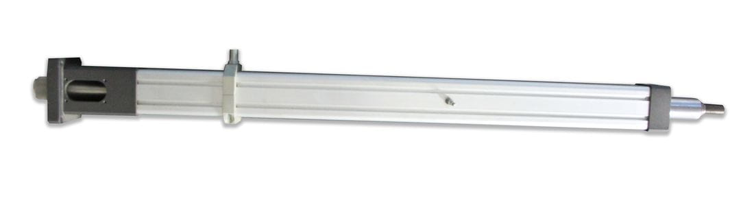 Actuador lineal con husillo trapezoidal, interior al eje