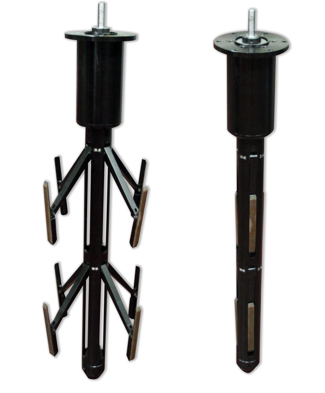 Actuador lineal amb fus trapezoidal i braços expansibles