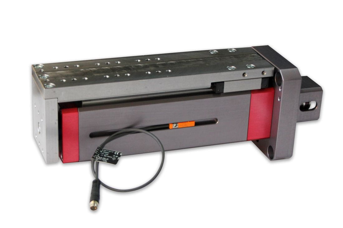 Actuador lineal elèctric guiat