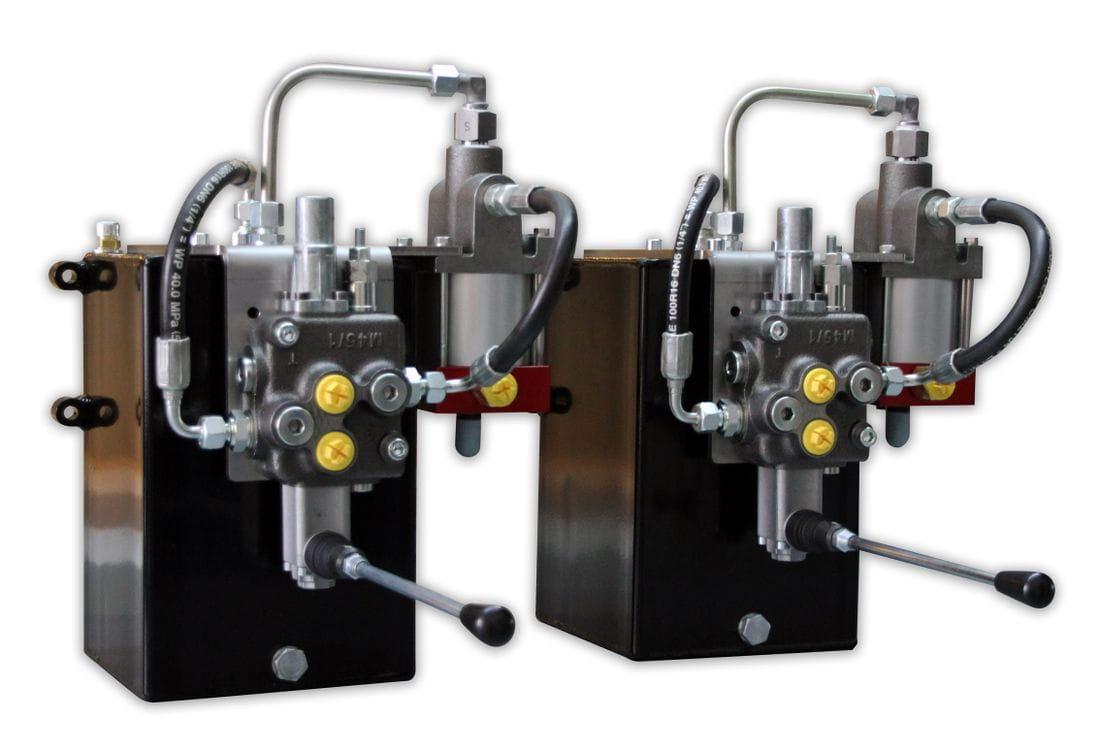 Multiplicador de presión oleoneumático