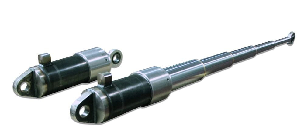 Special telescopic hydraulic cylinder for high temperatures