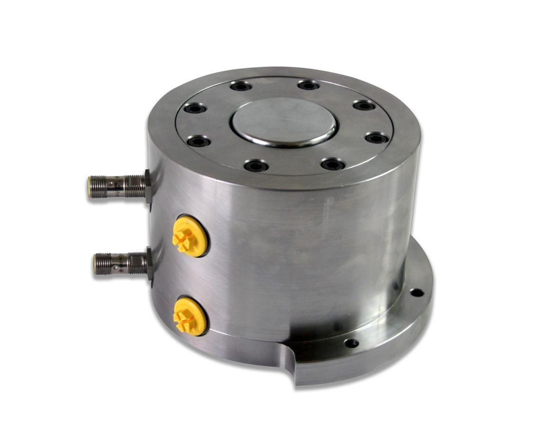 Cilindre hidraulic compacti amb brida i detecció final cursa