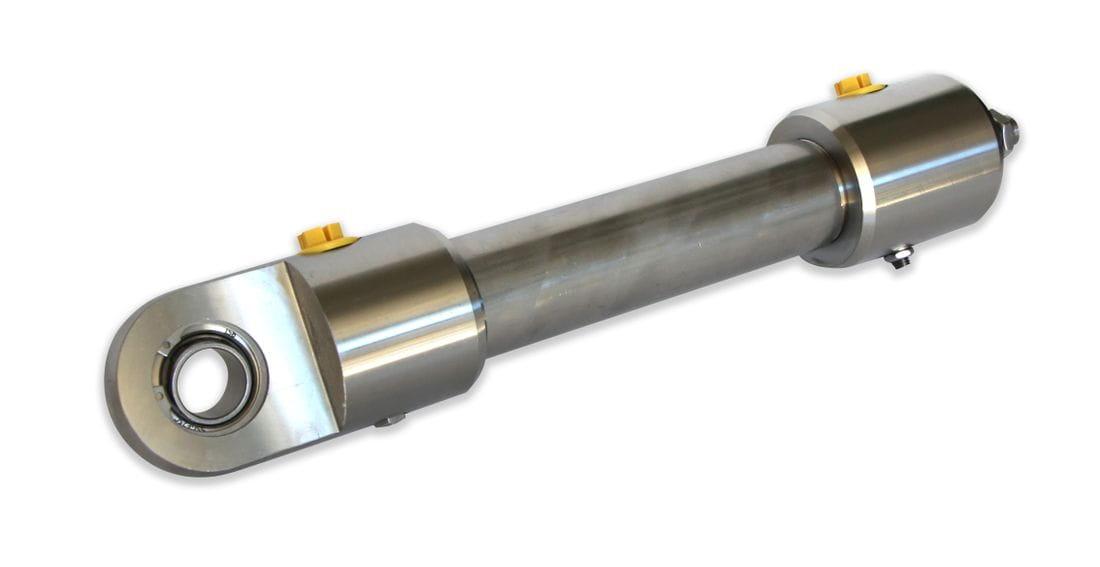 Cilindre hidràulic amortiguat amb ròtula