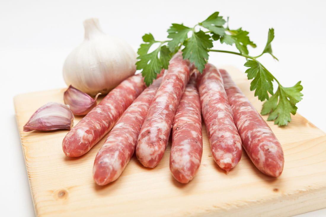 Salsichas de cerdo