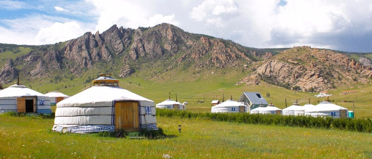 Yurtas en el Parque nacional  Terelj