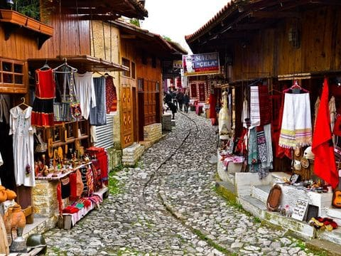 Antiguo bazar de Kruje