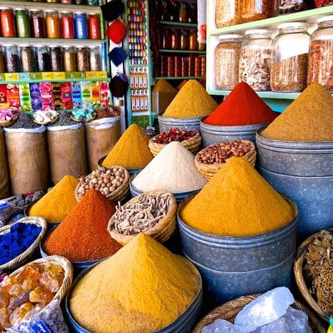 Mercado de especies de Marrakech