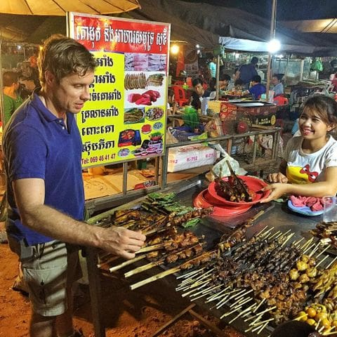 Cocina callejera de Siem Reap