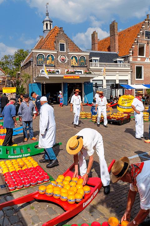 Mercado de quesos de Edam