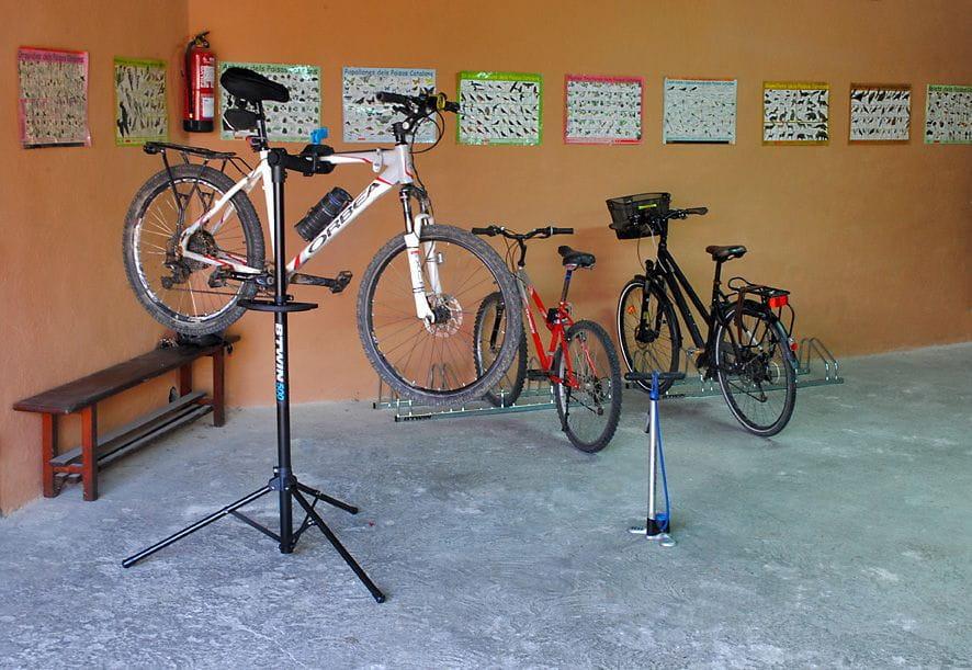 Espacio seguro para guardar las bicicletas