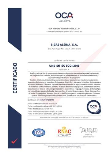 Certificado ISO9001/2015