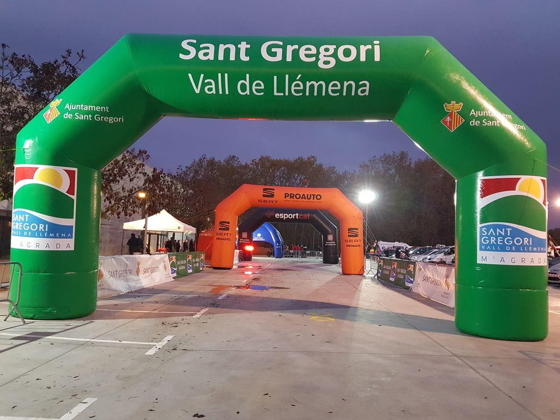 Muntatge de sortida i arribada de proves esportives a Sant Gregori