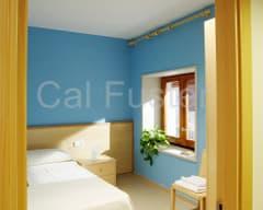 Habitación individual - Cal Fuster Besalú