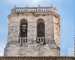 Detall del campanar de Sant Pere de Besalú