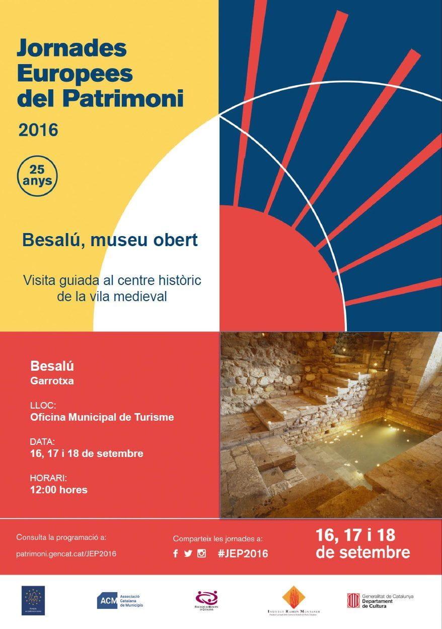 Cartel de las Jornadas Europeas del Patrimonio en Besalú