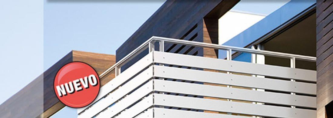 Cree espaciosidad. Soluciones personalizadas, desde revestimientos para balcones hasta sistemas de barandillas y balcones adosados.