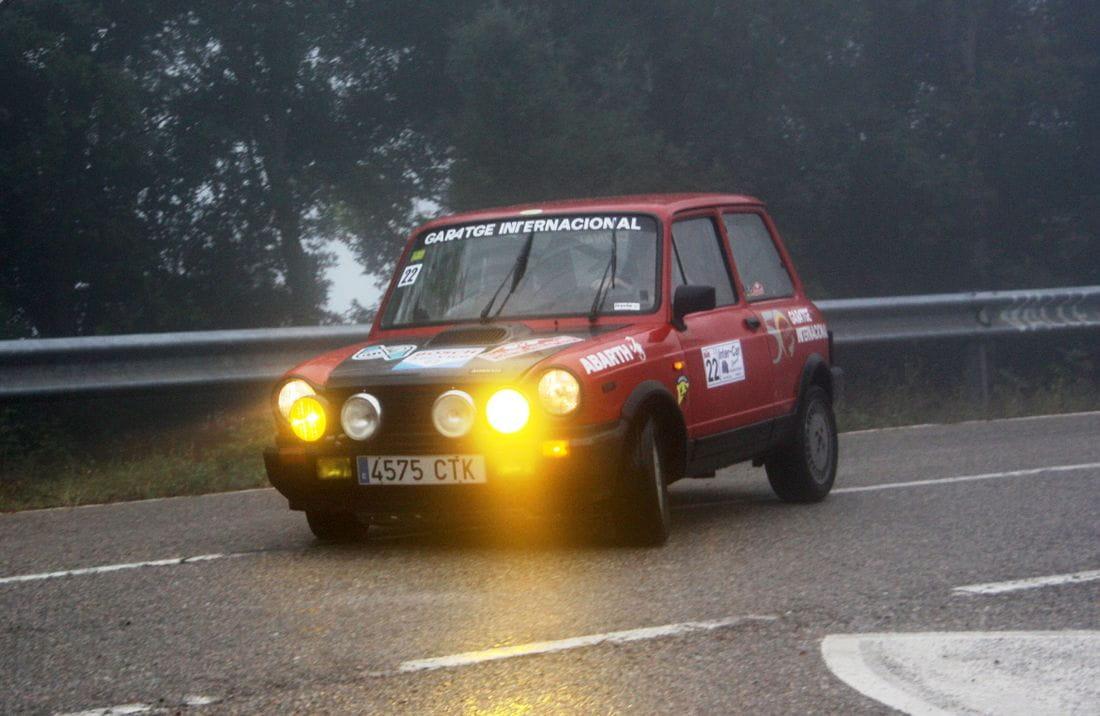 Josep Mª Vidal-Dani Robledillo (Autobianchi A112 Abarth), guanyadors XV Clàssic dels Volcans