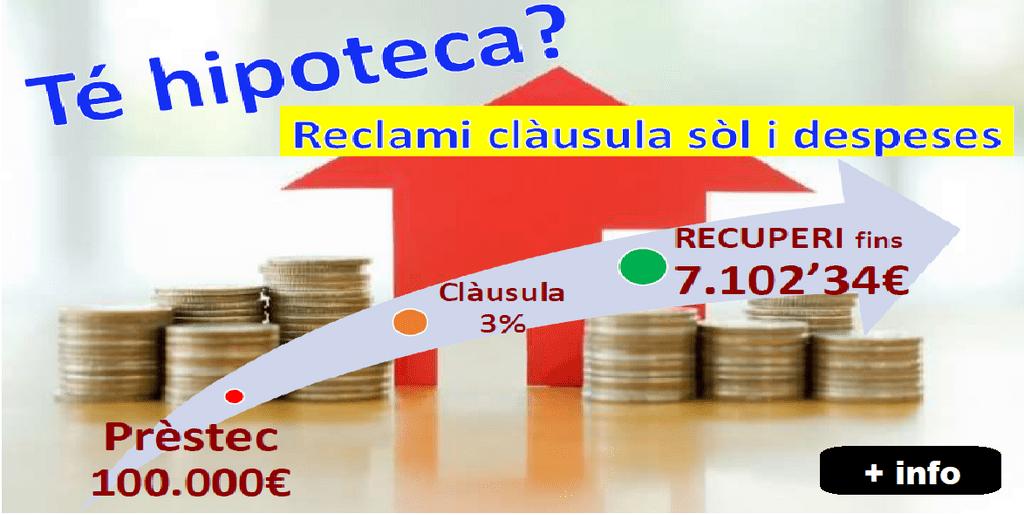 Asesor a hipotecaria reclamaci n de cl usulas suelo en la for Reclamacion hipoteca suelo